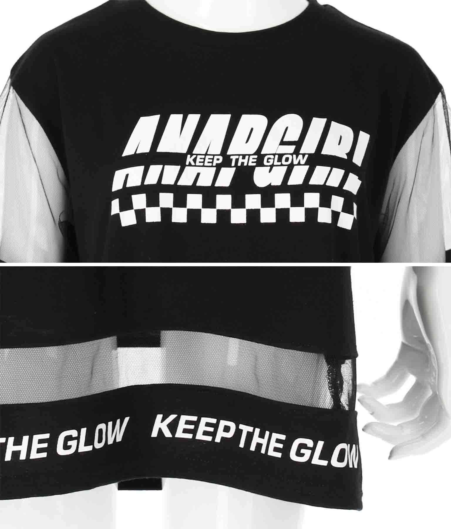 チュール切替チュニックトップス(トップス/Tシャツ・チュニック) | ANAP GiRL