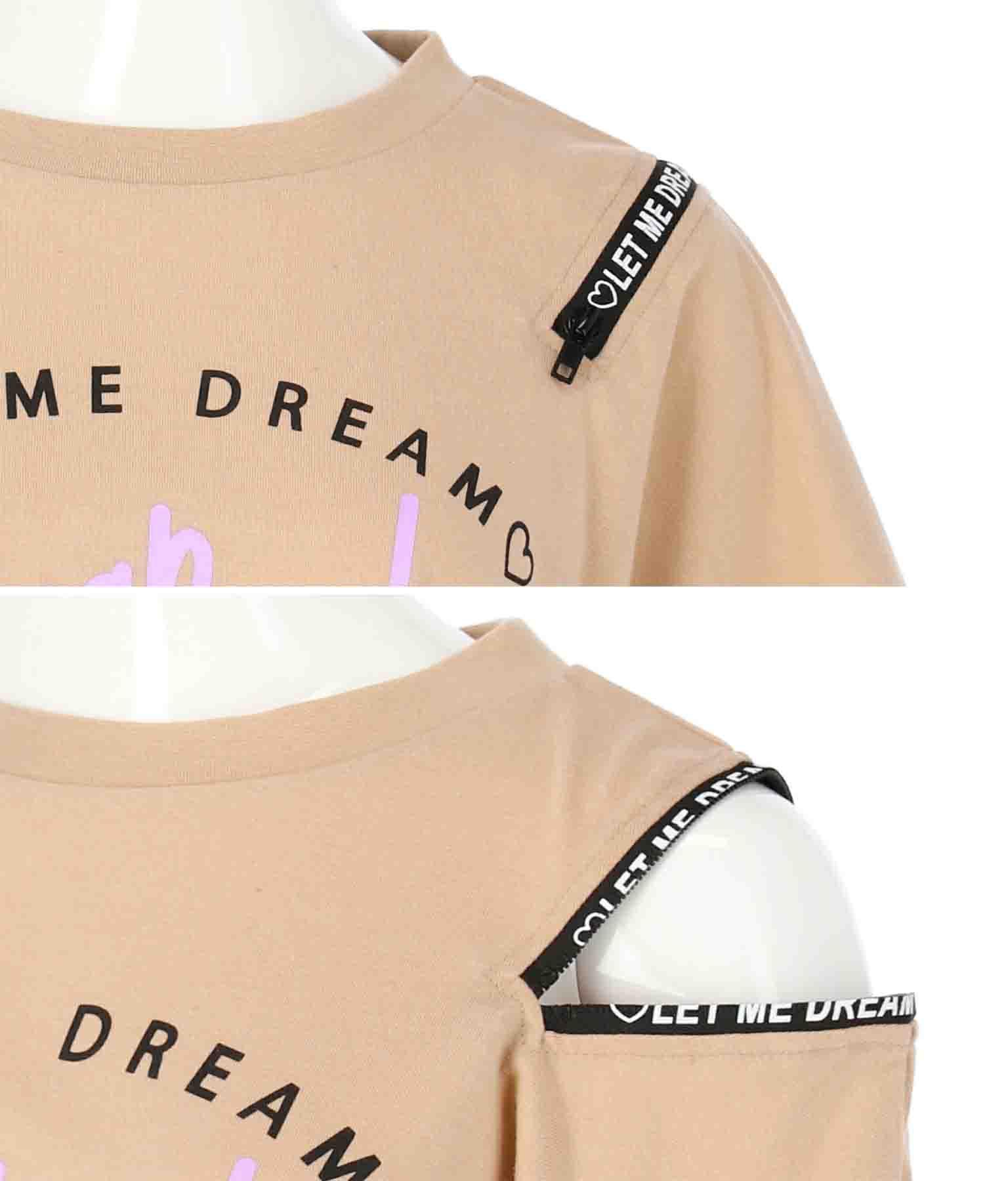 袖ジップロゴトップス(トップス/Tシャツ) | ANAP GiRL