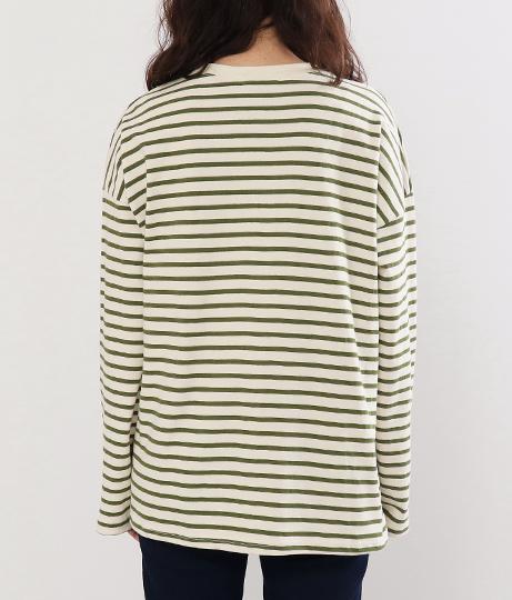ボーダーロングTシャツ | Factor=