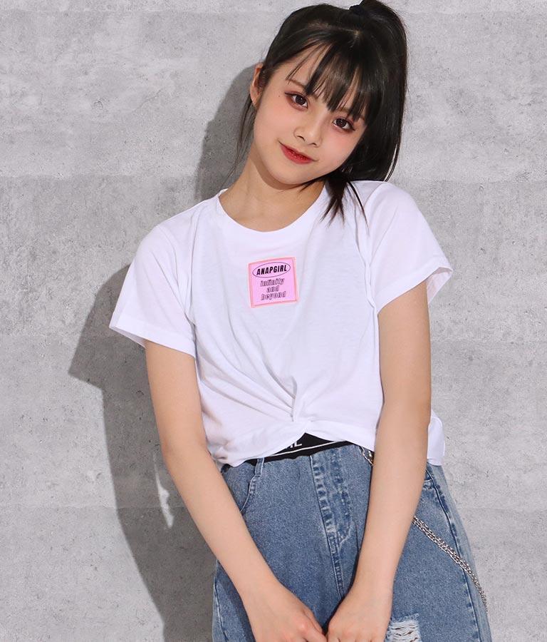 クリアワッペン付ギャザートップス(トップス/Tシャツ)   ANAP GiRL