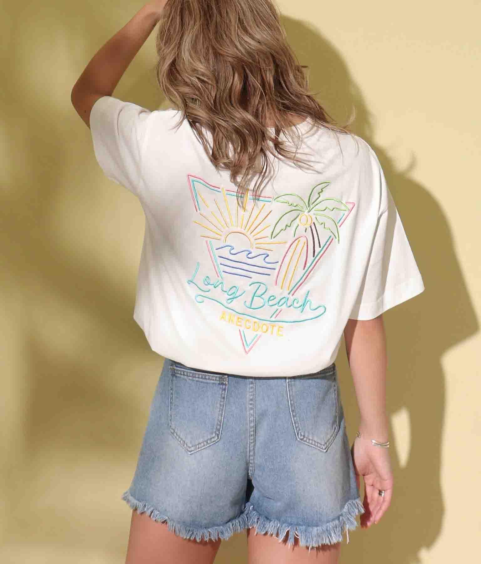 ネオンサイン風刺繍ビッグTシャツ
