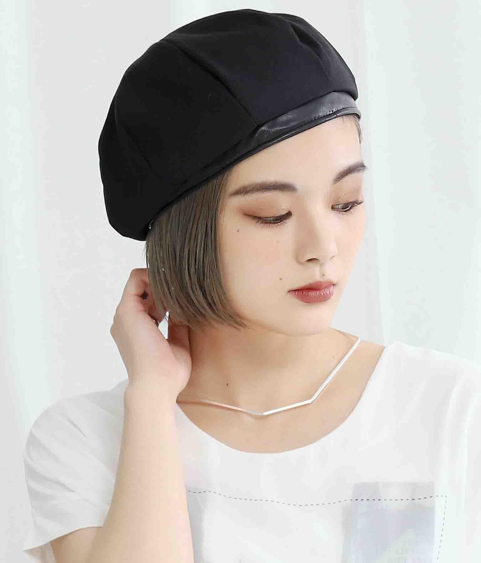 リネンライクパイピングボリュームベレー帽(ファッション雑貨/ハット・キャップ・ニット帽 ・キャスケット・ベレー帽) | Settimissimo