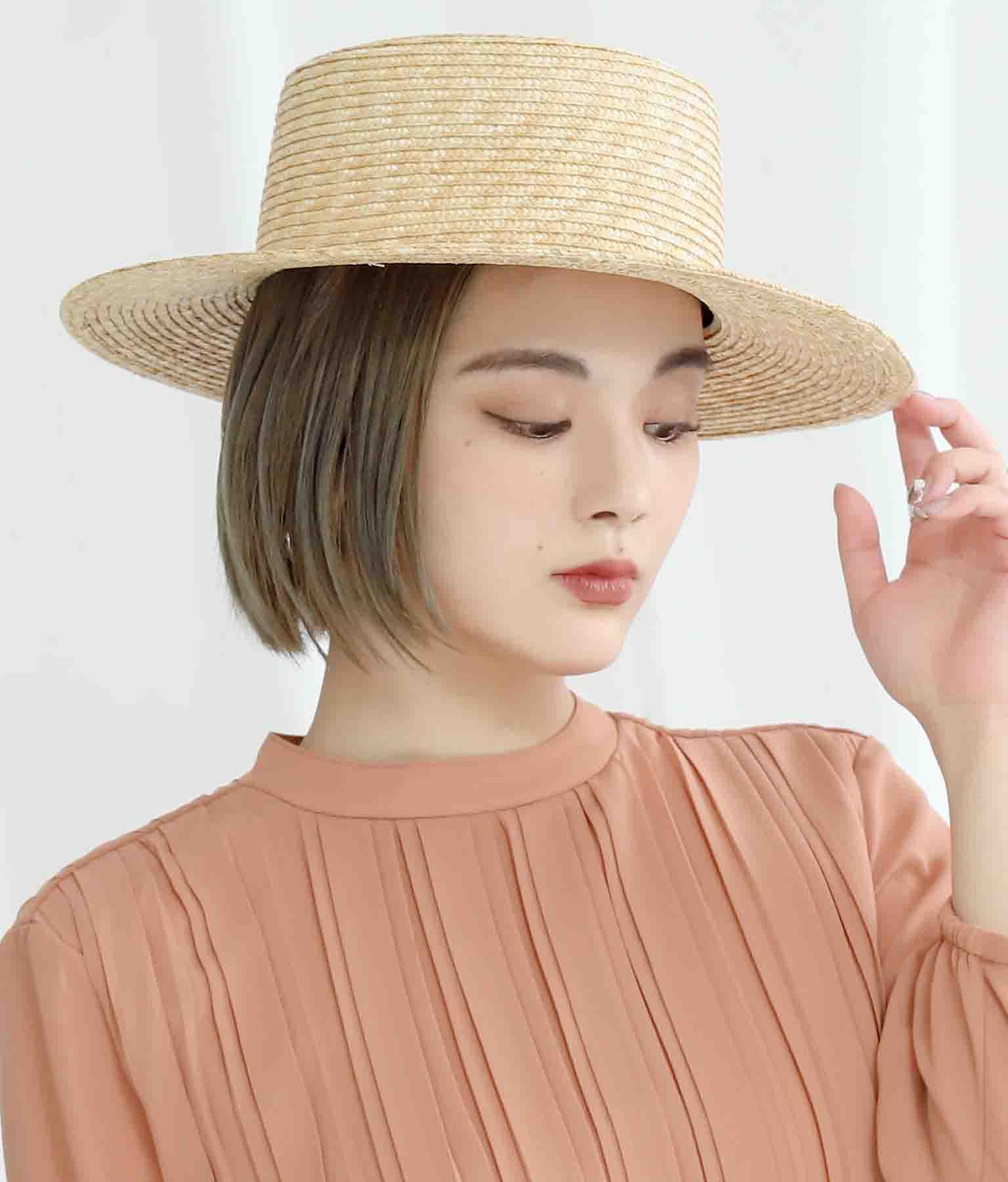 ロングブリムブレードカンカン帽