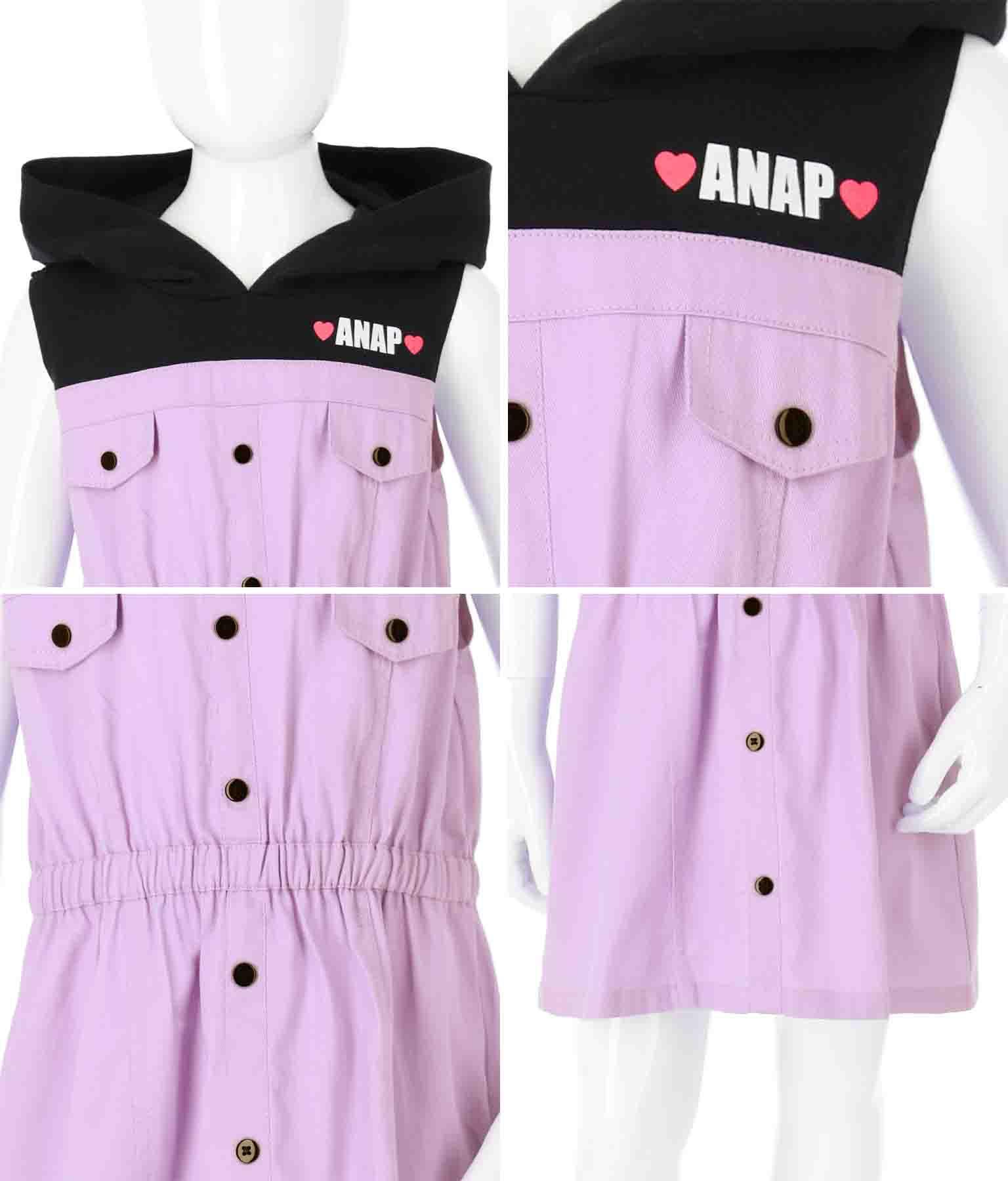 ノースリーブドッキングワンピース(ワンピース・ドレス/ミニワンピ) | ANAP KIDS