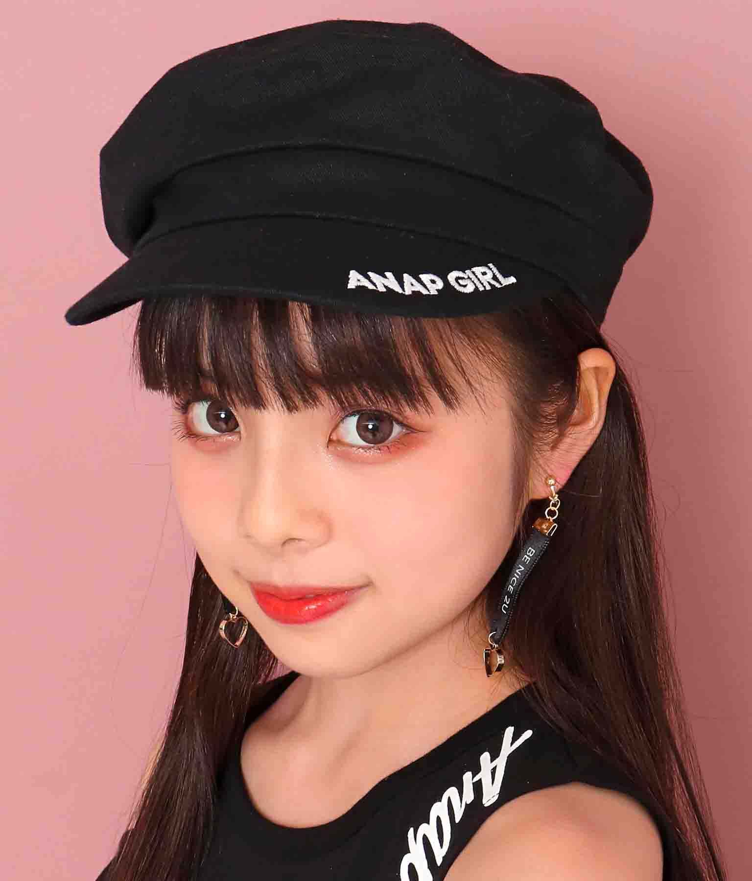 ロゴ刺繍ツイルキャスケット(ファッション雑貨/ハット・キャップ・ニット帽 ・キャスケット・ベレー帽) | ANAP GiRL