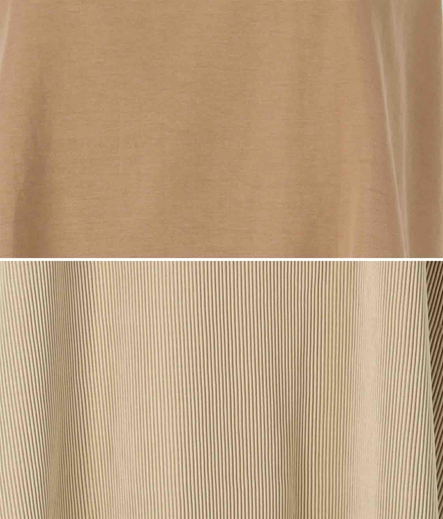 ジャージープリーツレイヤードワンピース(ワンピース・ドレス/ロングワンピ) | Alluge