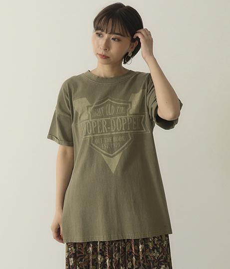 ロゴサイドスリットTシャツ