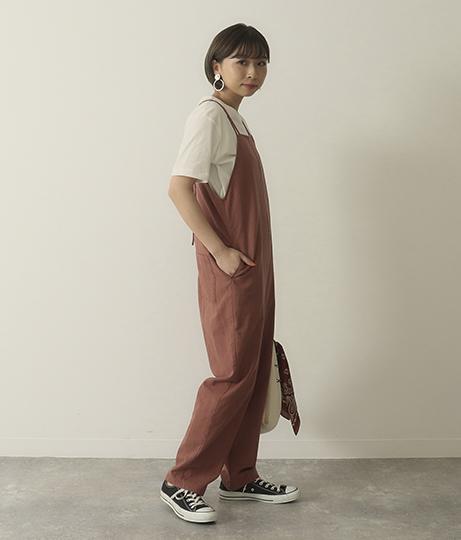 バックレースアップキャミサロペット(ワンピース・ドレス/サロペット/オールインワン) | Factor=