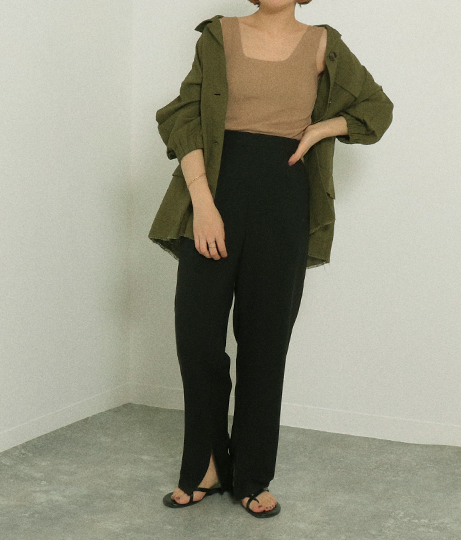 スカート+パンツセット(ボトムス・パンツ /ロングパンツ・スカート・テーパードパンツ)   AULI