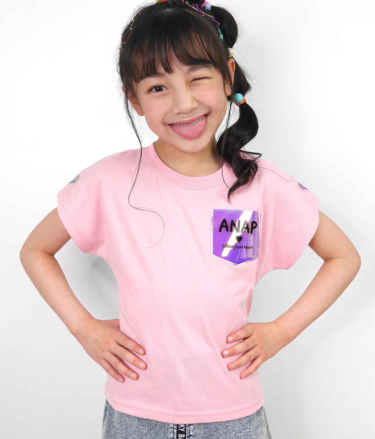 クリアポケットトップス(トップス/Tシャツ)   ANAP KIDS