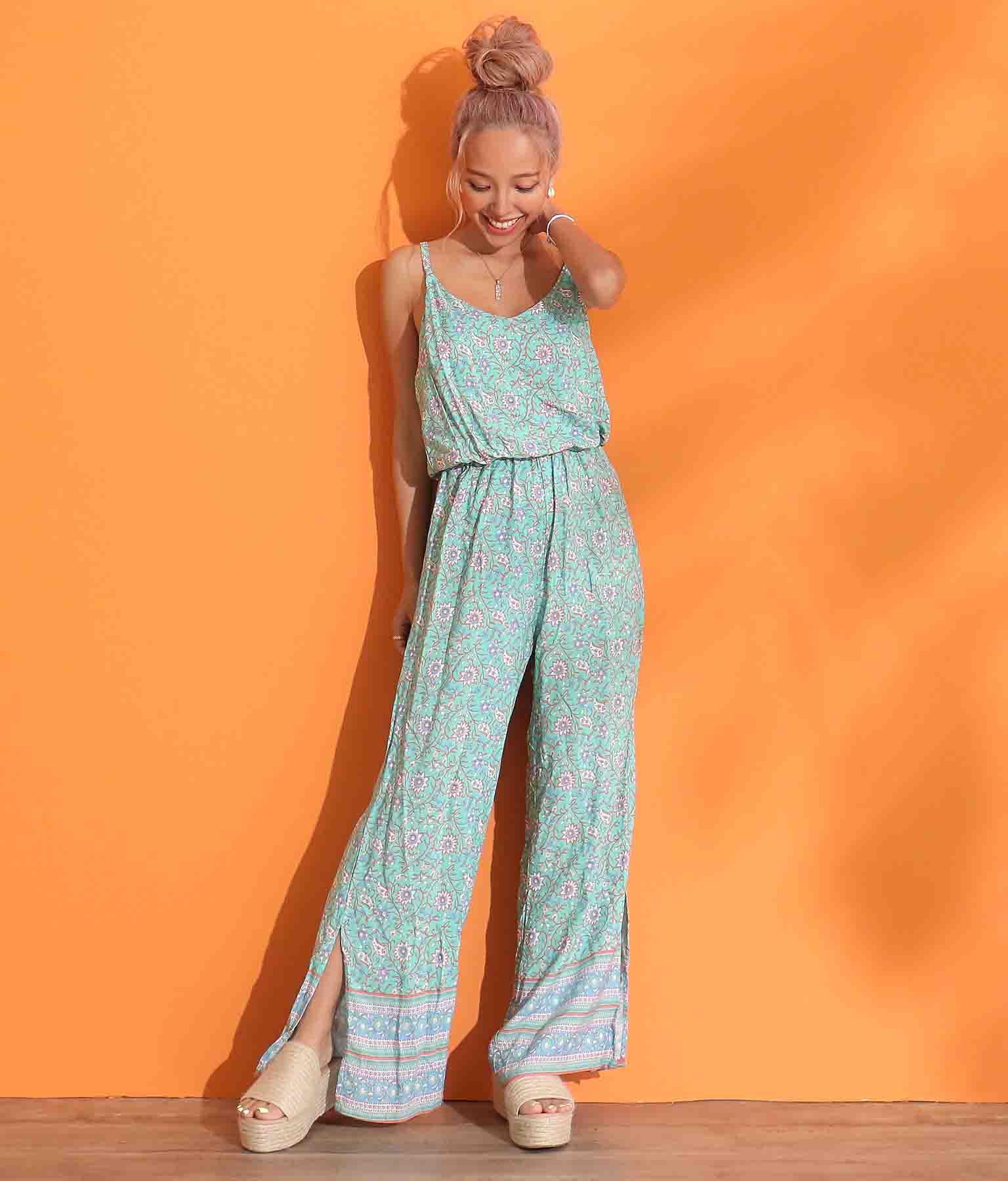オリエンタルデザインオールインワン(ワンピース・ドレス/サロペット/オールインワン) | anap mimpi