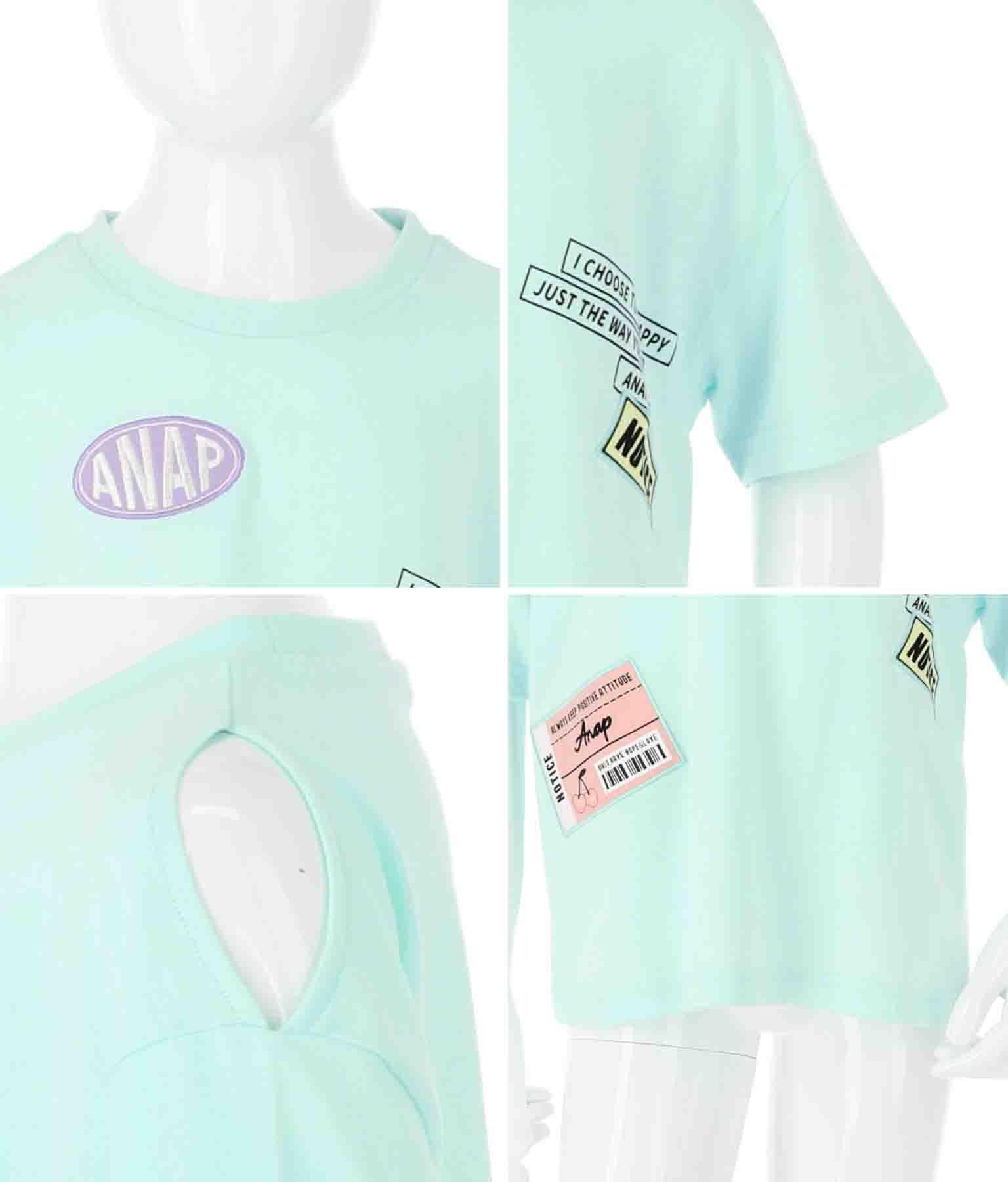 チケット付肩あきTシャツ(トップス/Tシャツ) | ANAP KIDS