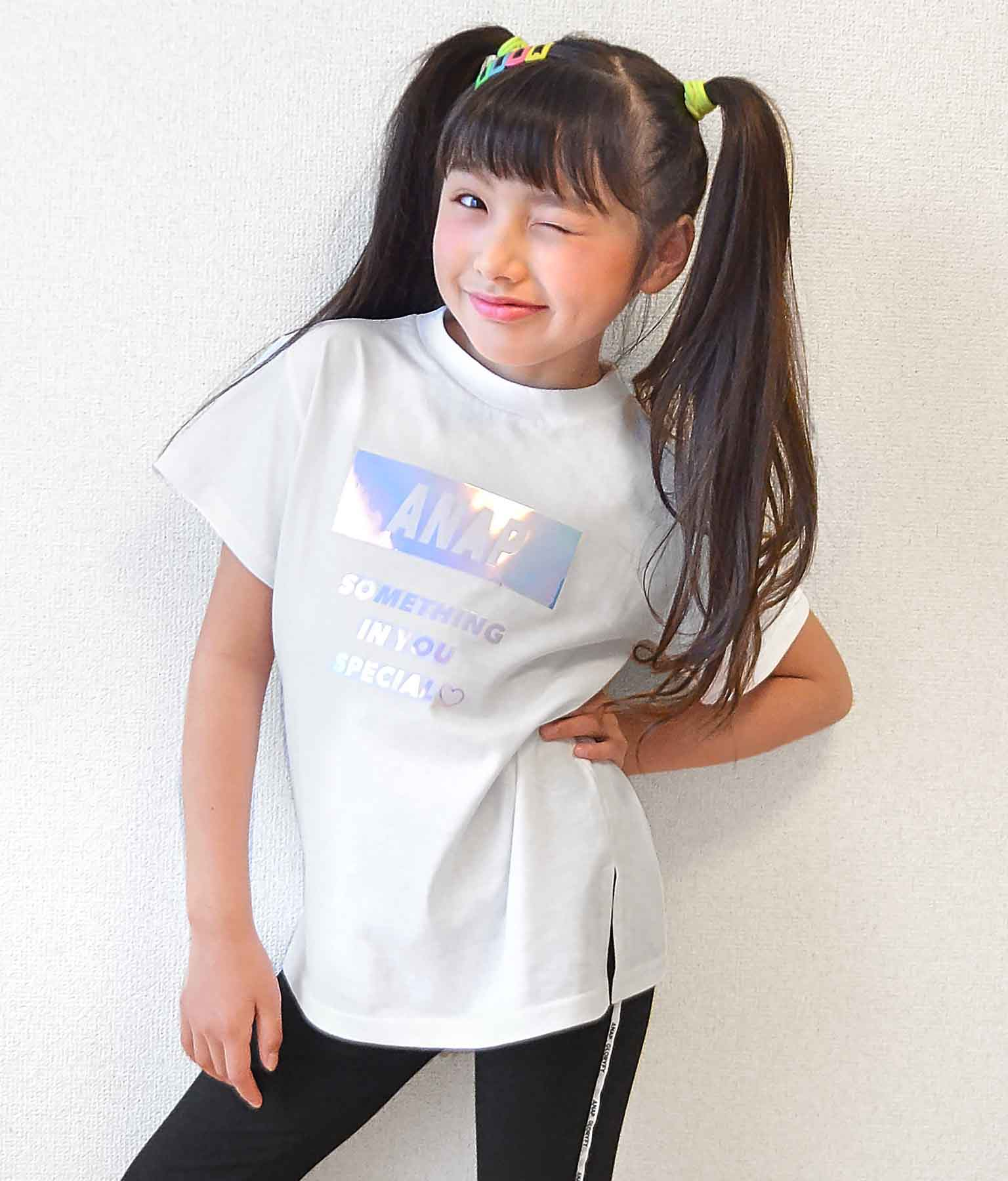 オーロラロゴチュニック(トップス/Tシャツ) | ANAP KIDS
