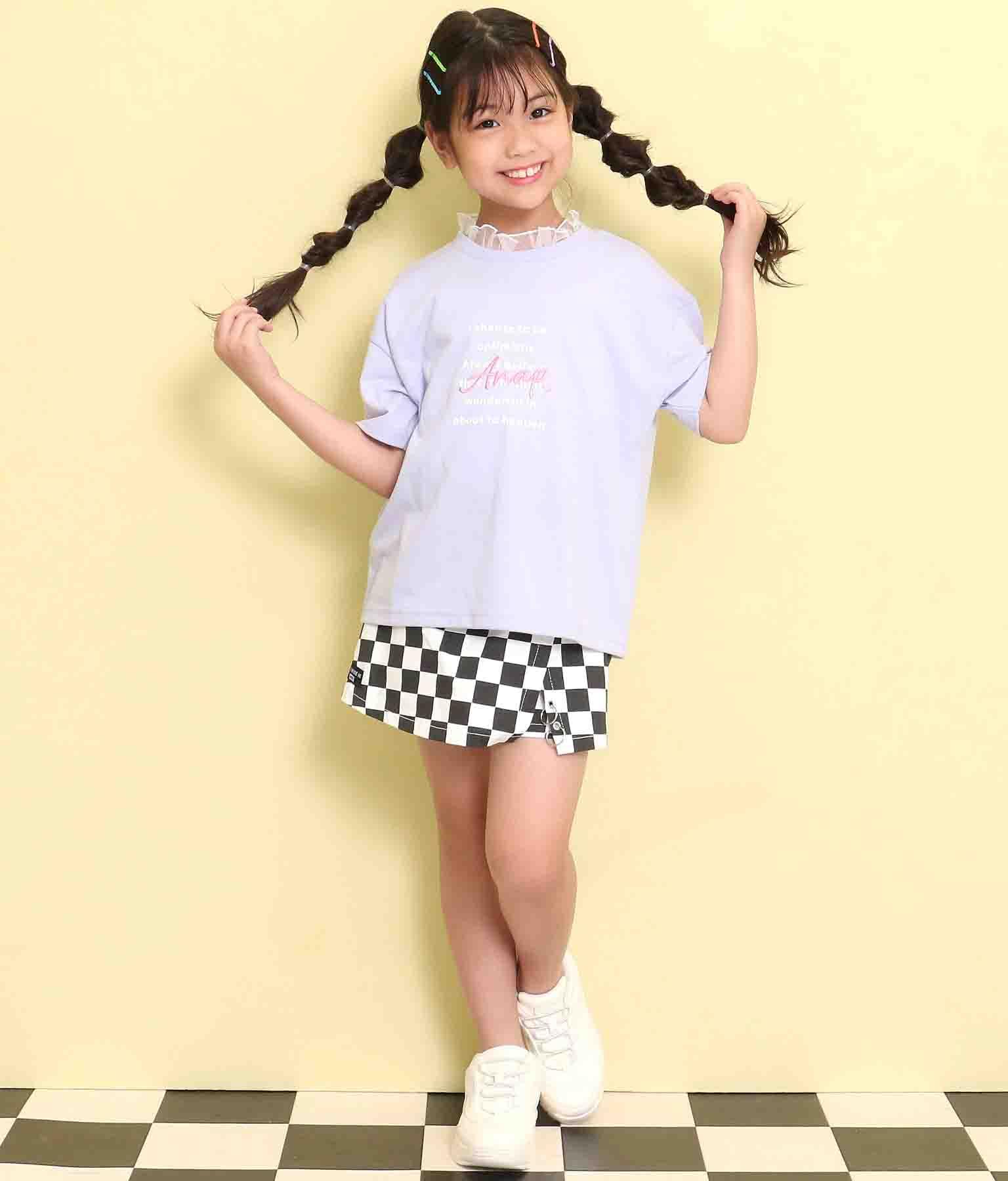 フリルネックTシャツ(トップス/Tシャツ) | ANAP KIDS