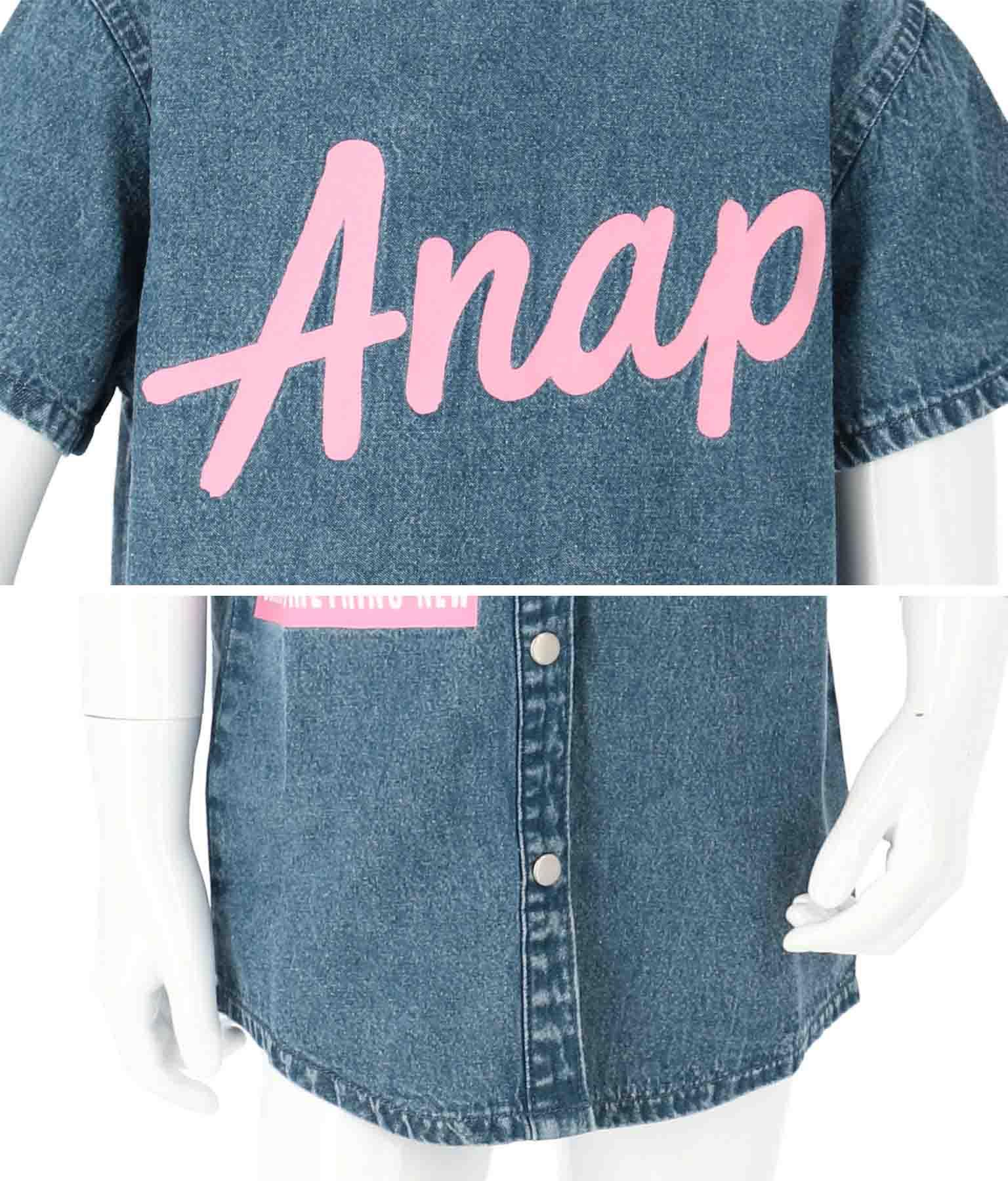 ケミカルウォッシュシャツ(トップス/デニムシャツ・シャツ・ブラウス)   ANAP KIDS