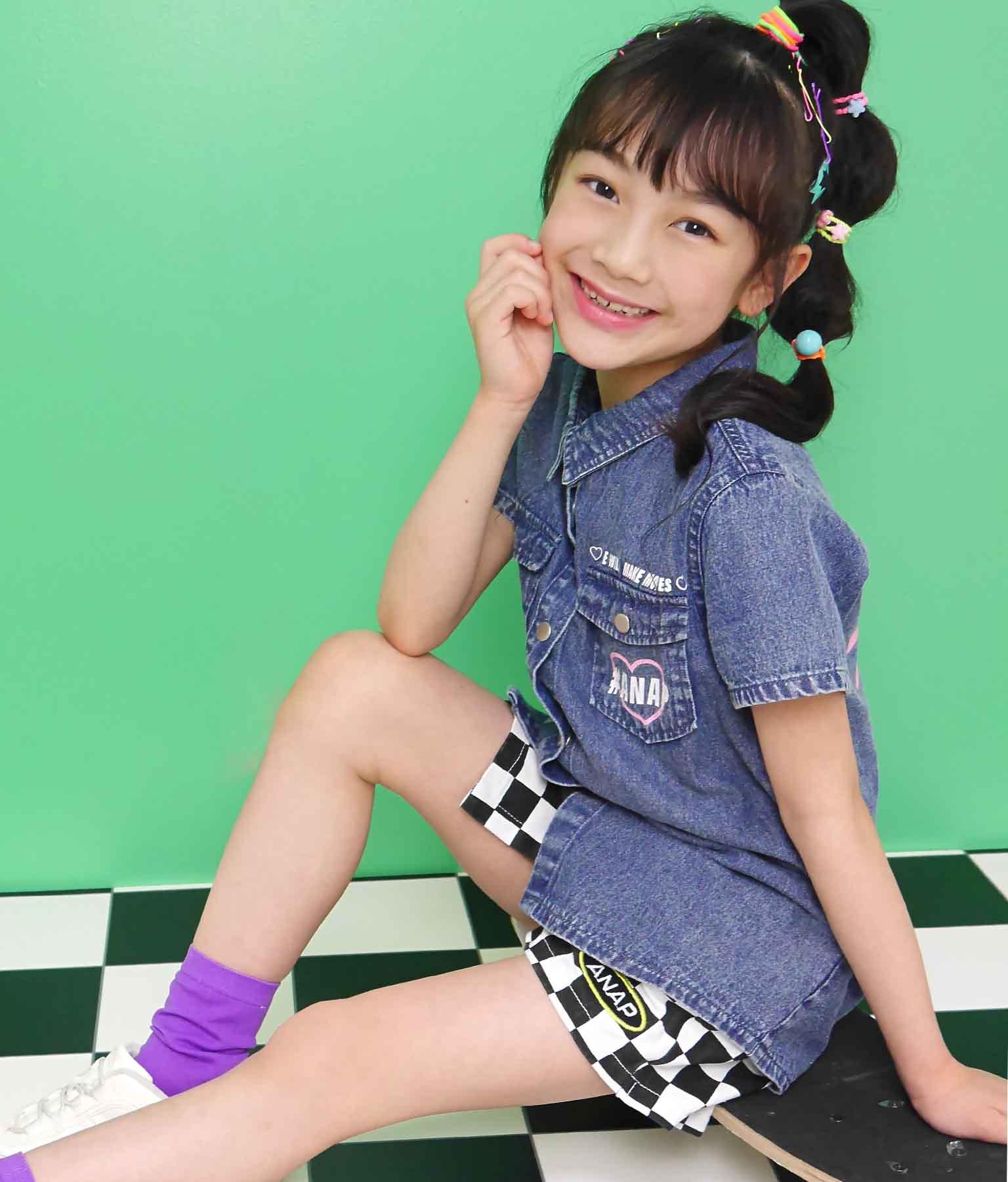 ケミカルウォッシュシャツ(トップス/デニムシャツ・シャツ・ブラウス) | ANAP KIDS