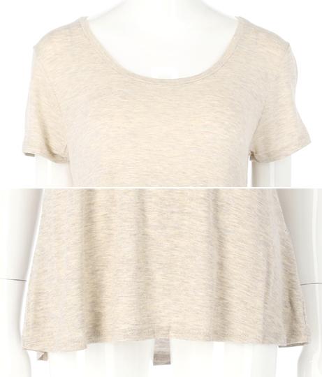 ディープUネックセミフレアレーヨンTシャツ(トップス/Tシャツ) | Anap USA