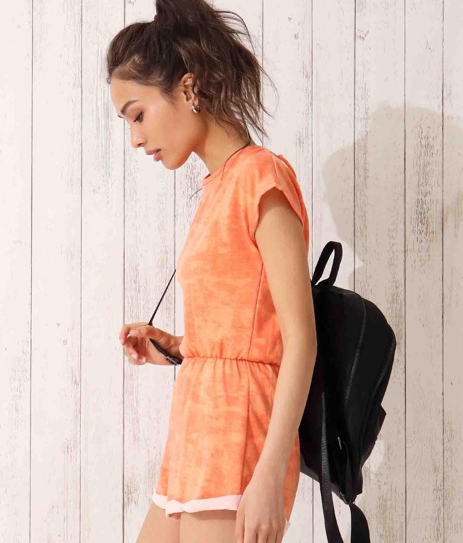 バックカシュクールタイダイショートオールインワン(ワンピース・ドレス/サロペット/オールインワン) | Anap USA