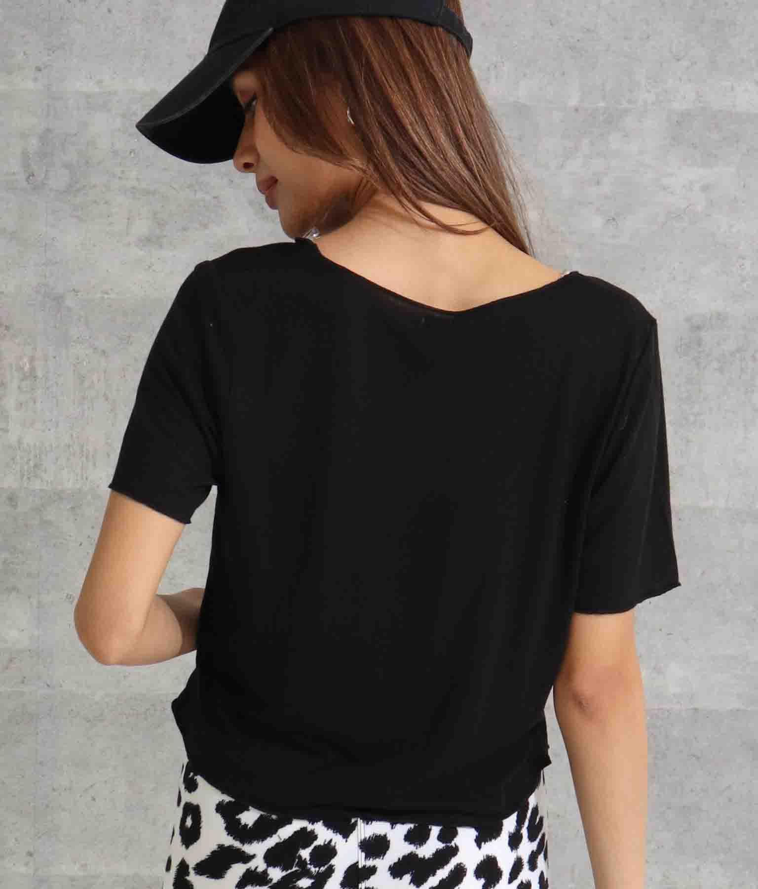 スラブVネックゆるてろTシャツ(トップス/Tシャツ・カットソー ) | Anap USA