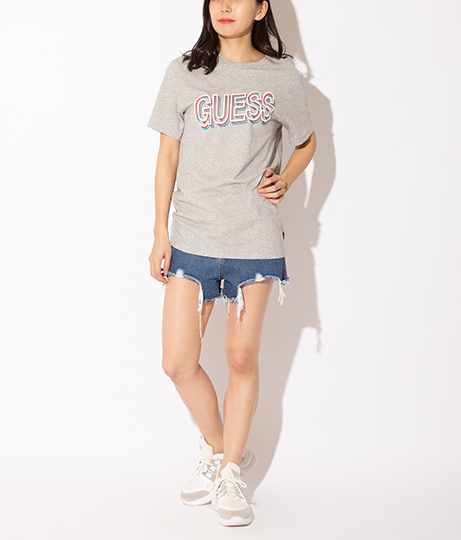 GUESS SS BSC SKI FONT CREW TEE | GUESS