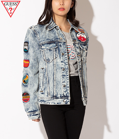GUESS DILLON DENIM JKT W/ PATCHES