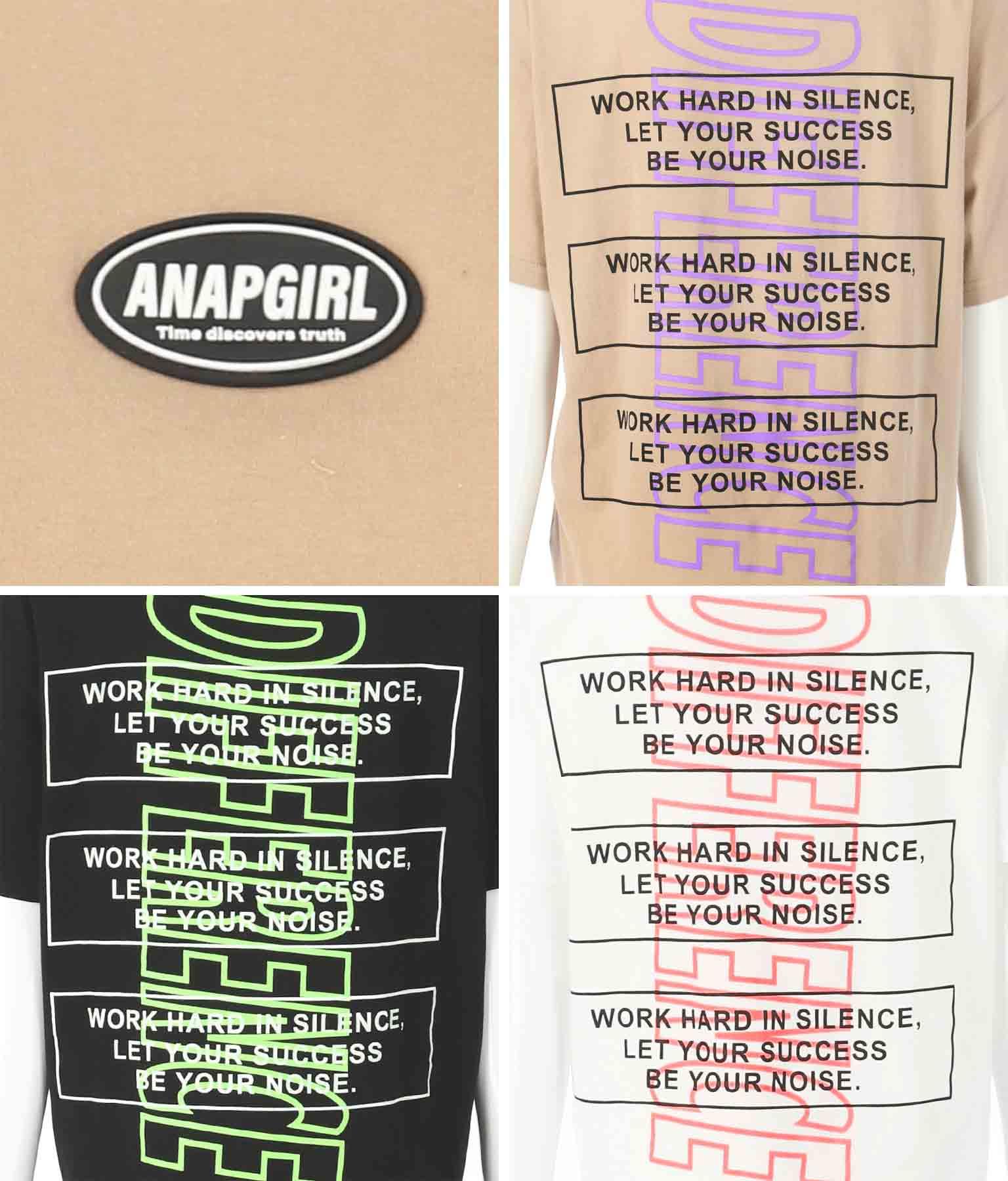 シリコンワッペン付Tシャツ(トップス/Tシャツ) | ANAP GiRL