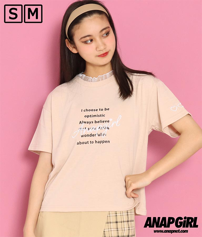 フリルネックTシャツ(トップス/Tシャツ) | ANAP GiRL