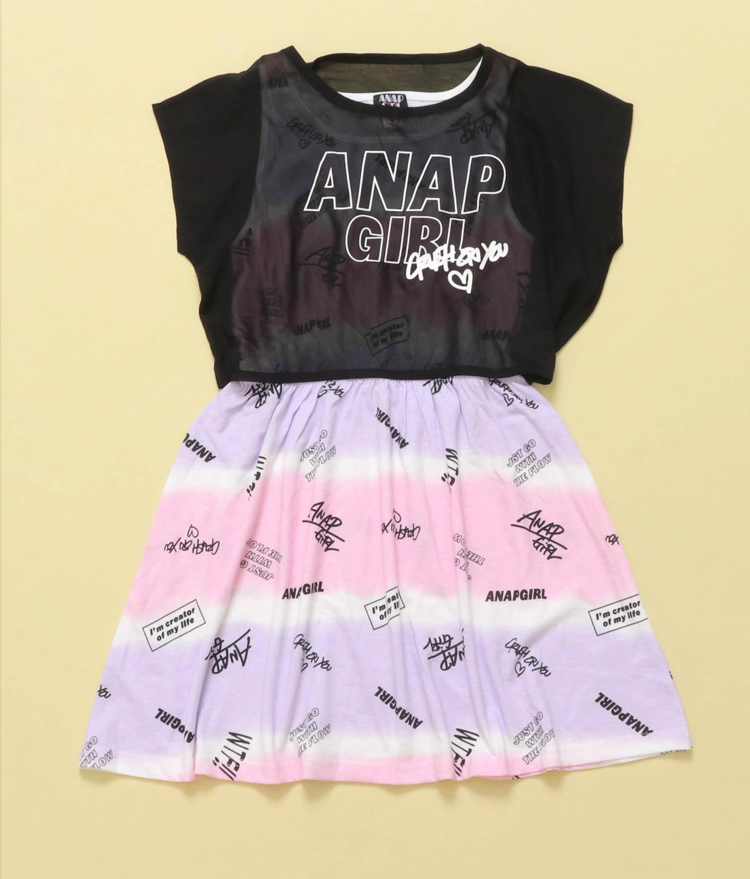 シフォン重ねワンピース(ワンピース・ドレス/ミディアムワンピ) | ANAP GiRL
