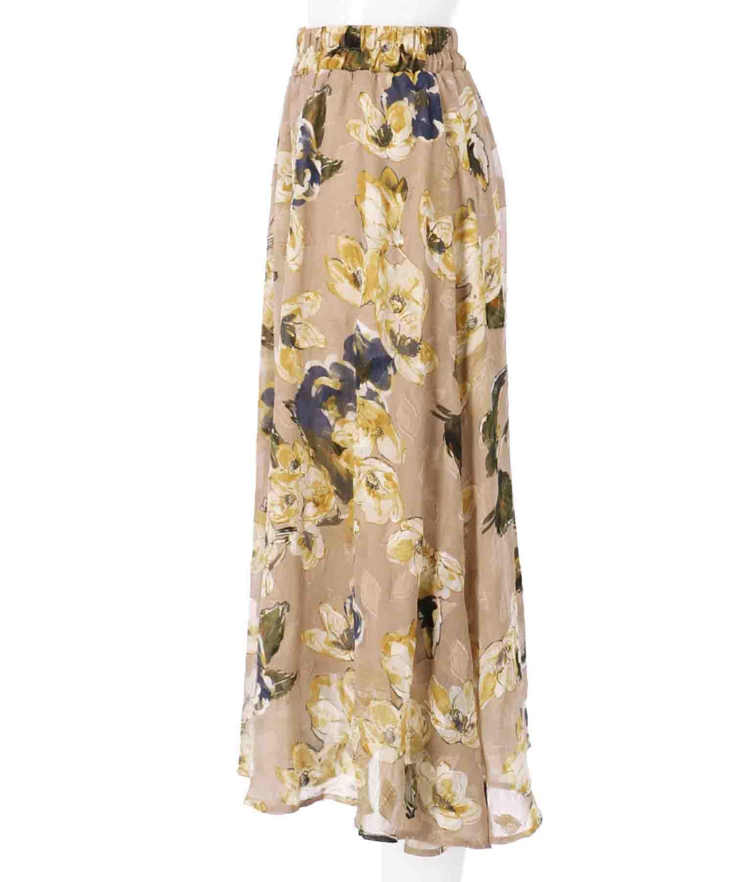 ジャガードフラワーフレアスカート(ボトムス・パンツ /スカート)   Alluge