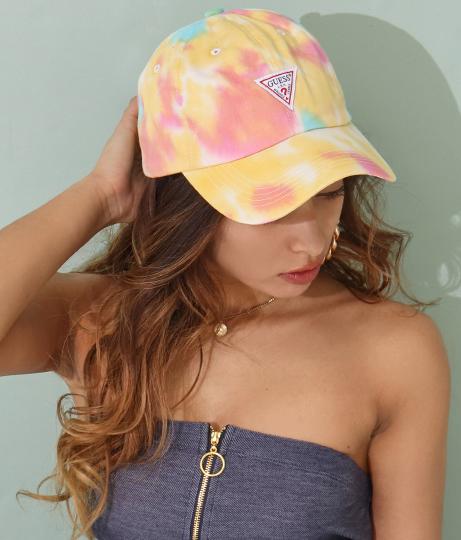 GUESS CTTN TWILL TIE-DYEING BALL CAP(ファッション雑貨/ハット・キャップ・ニット帽 ・キャスケット・ベレー帽) | GUESS