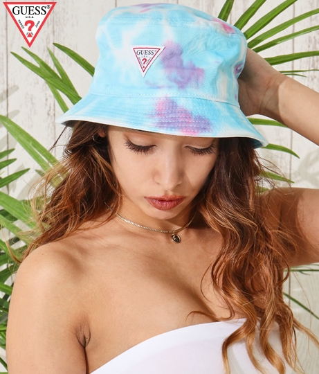 GUESS CTTN TWILL TIE-DYEING BUCKET HAT