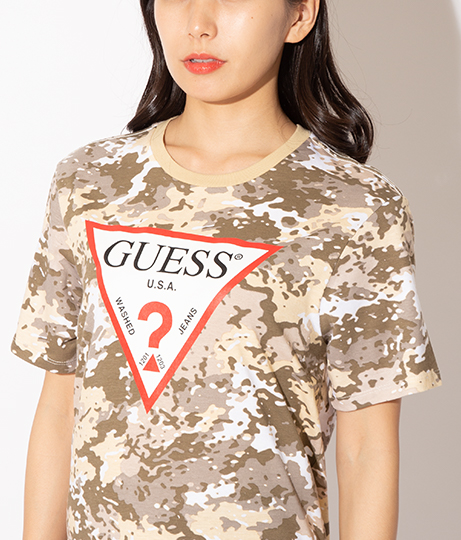 GUESS SS BSC CAMO CLASSIC CREW | GUESS