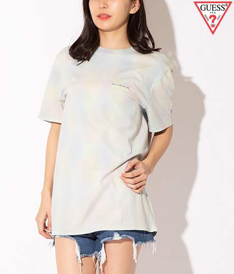 GUESS CN SS TREATED COLORFUL TEE