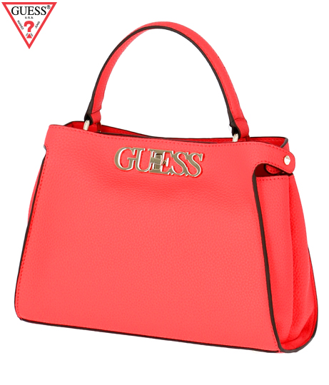 GUESS UPTOWN CHIC TURNLOCK SATCHEL
