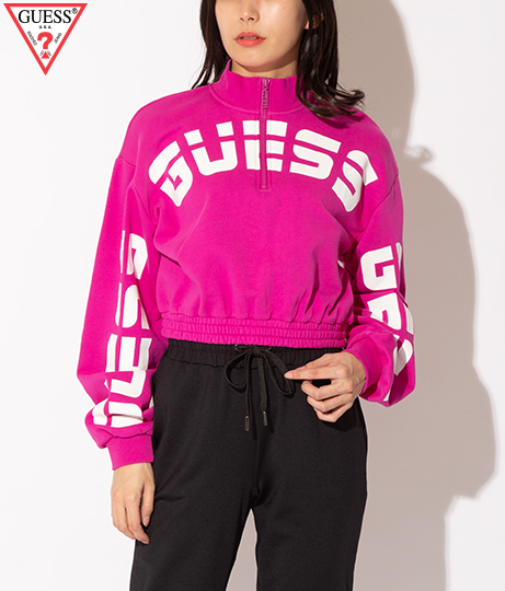 GUESS LS AMBER CURVED LOGO PULL OVER