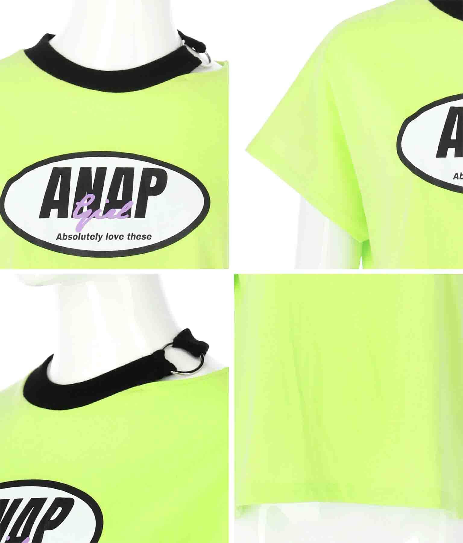 首リングスリットトップス(トップス/Tシャツ) | ANAP GiRL