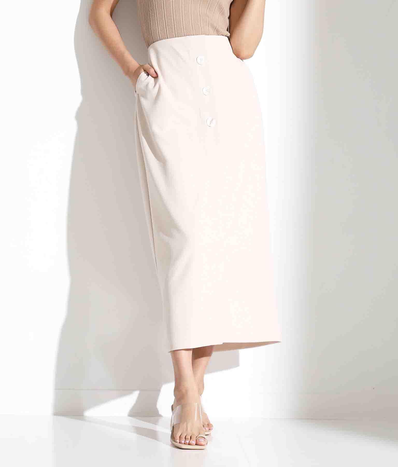 フロントスリットスカート(ボトムス・パンツ /ミモレ丈スカート・スカート) | Alluge