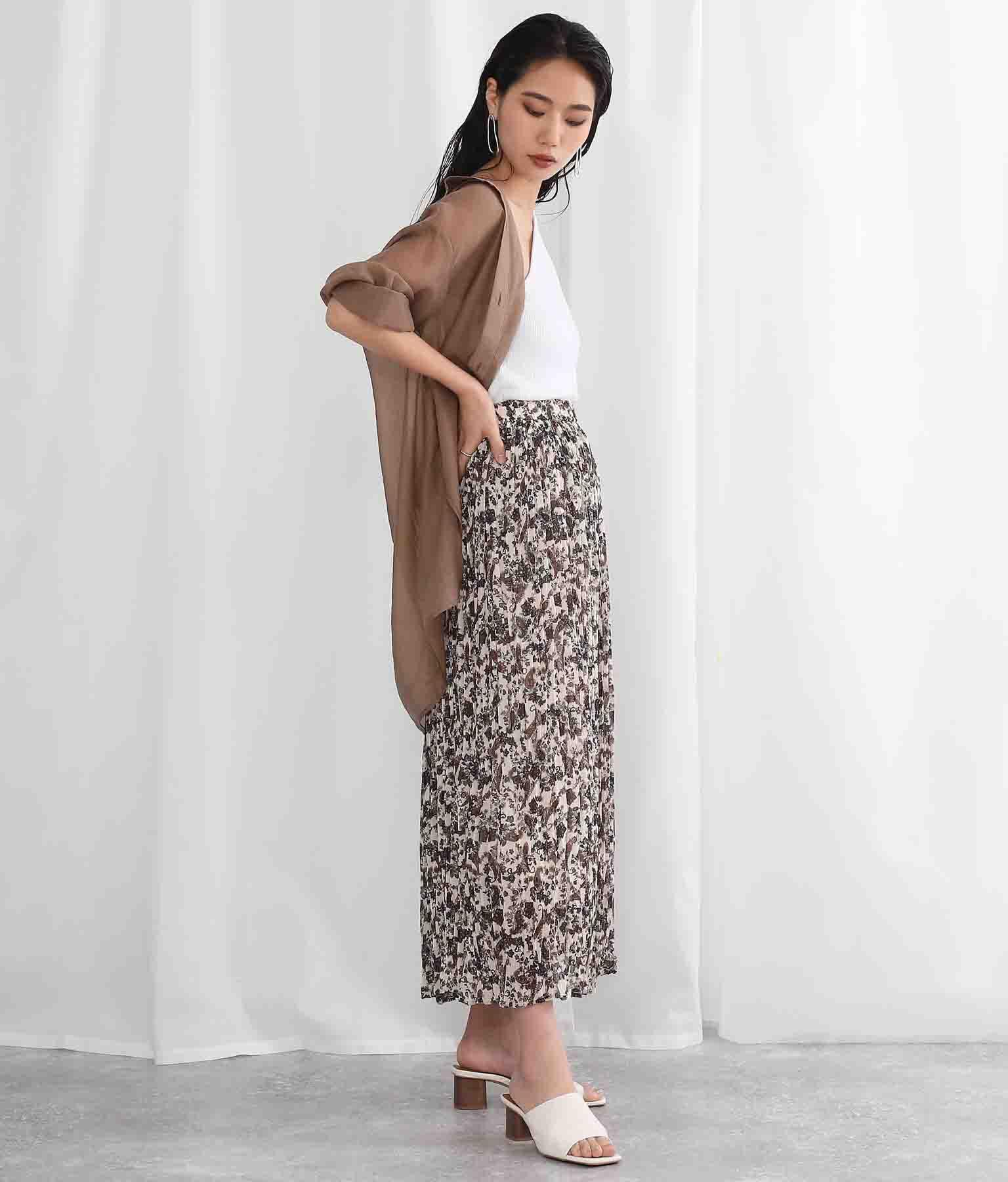 アンティーク調ペイズリー柄細プリーツスカート(ボトムス・パンツ /スカート) | Settimissimo
