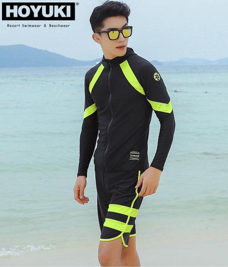 HOYUKI メンズ フィットネス水着3点セット(水着/水着セット)   HOYUKI