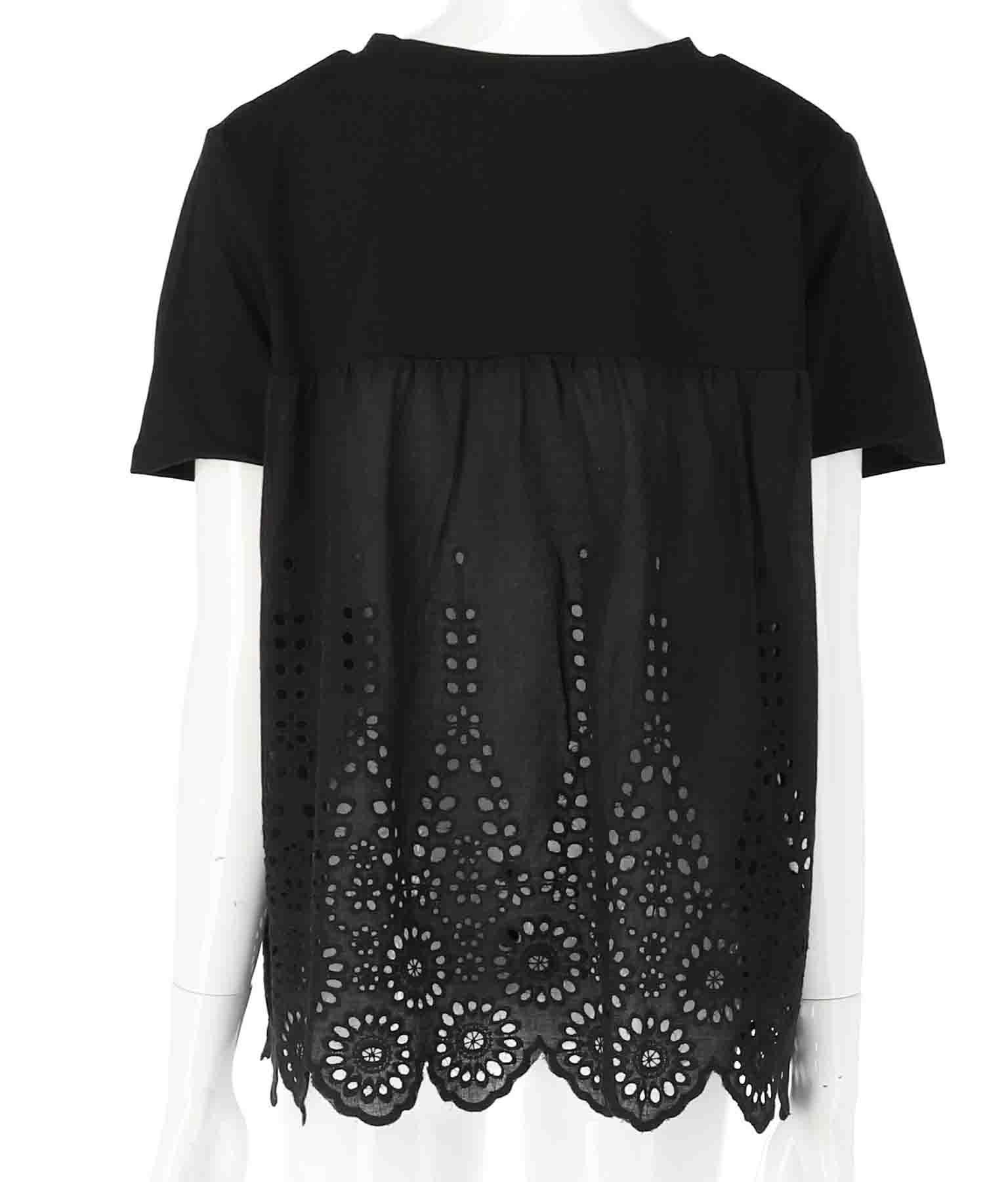 バックレース切替Tシャツ(トップス/Tシャツ) | CHILLE