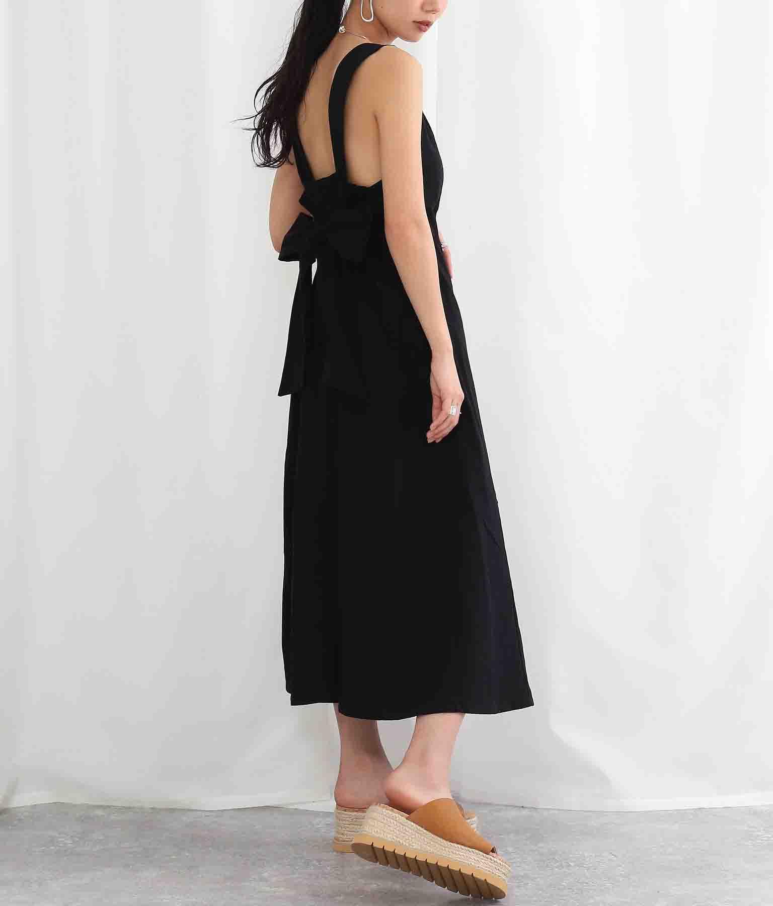 リネンライクバックリボンワンピース(ワンピース・ドレス/ロングワンピ) | Settimissimo