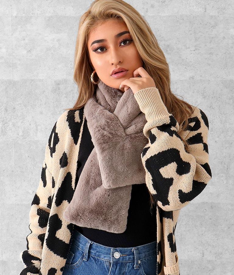 フェイクファーループクロスティペット(ファッション雑貨/マフラー・ストール ・スヌード・スカーフ )   anap Latina