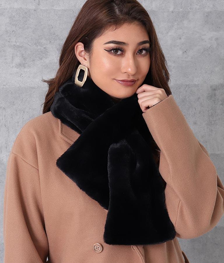 フェイクファーループクロスティペット(ファッション雑貨/マフラー・ストール ・スヌード・スカーフ ) | anap Latina