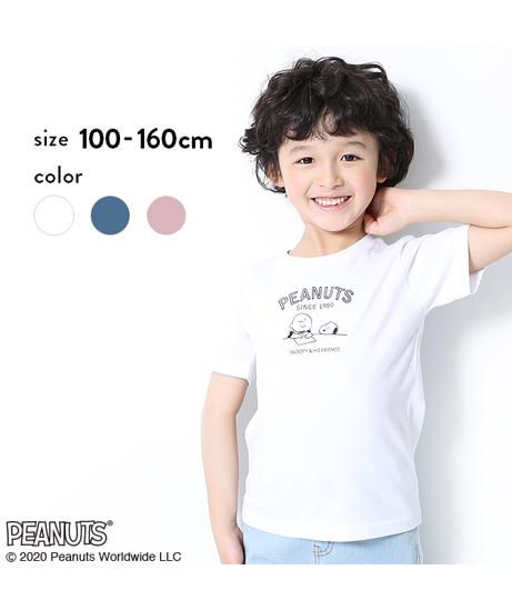 PEANUTS スヌーピー柄Tシャツ