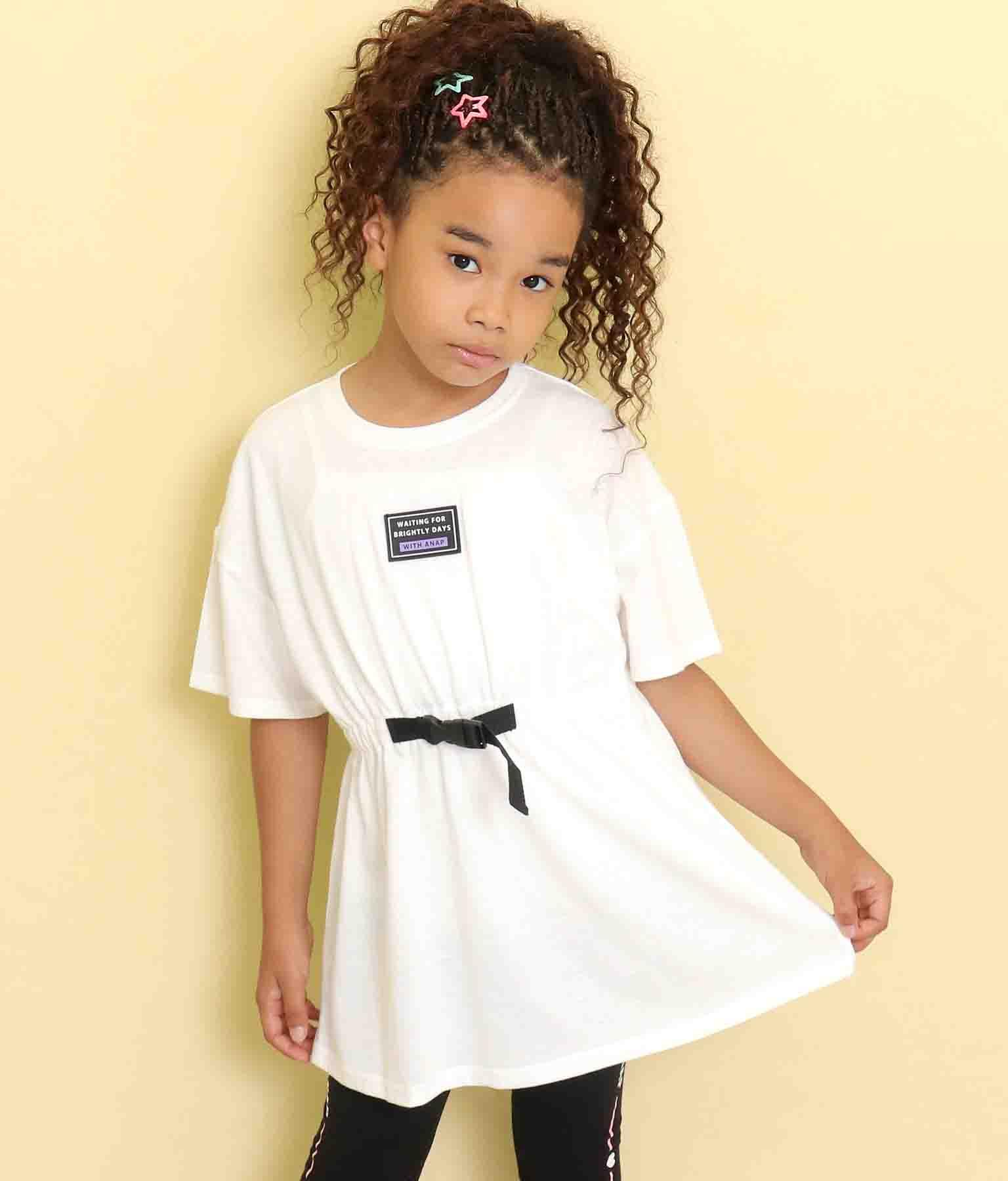 ウエストベルトデザインチュニック(トップス/Tシャツ・チュニック) | ANAP KIDS