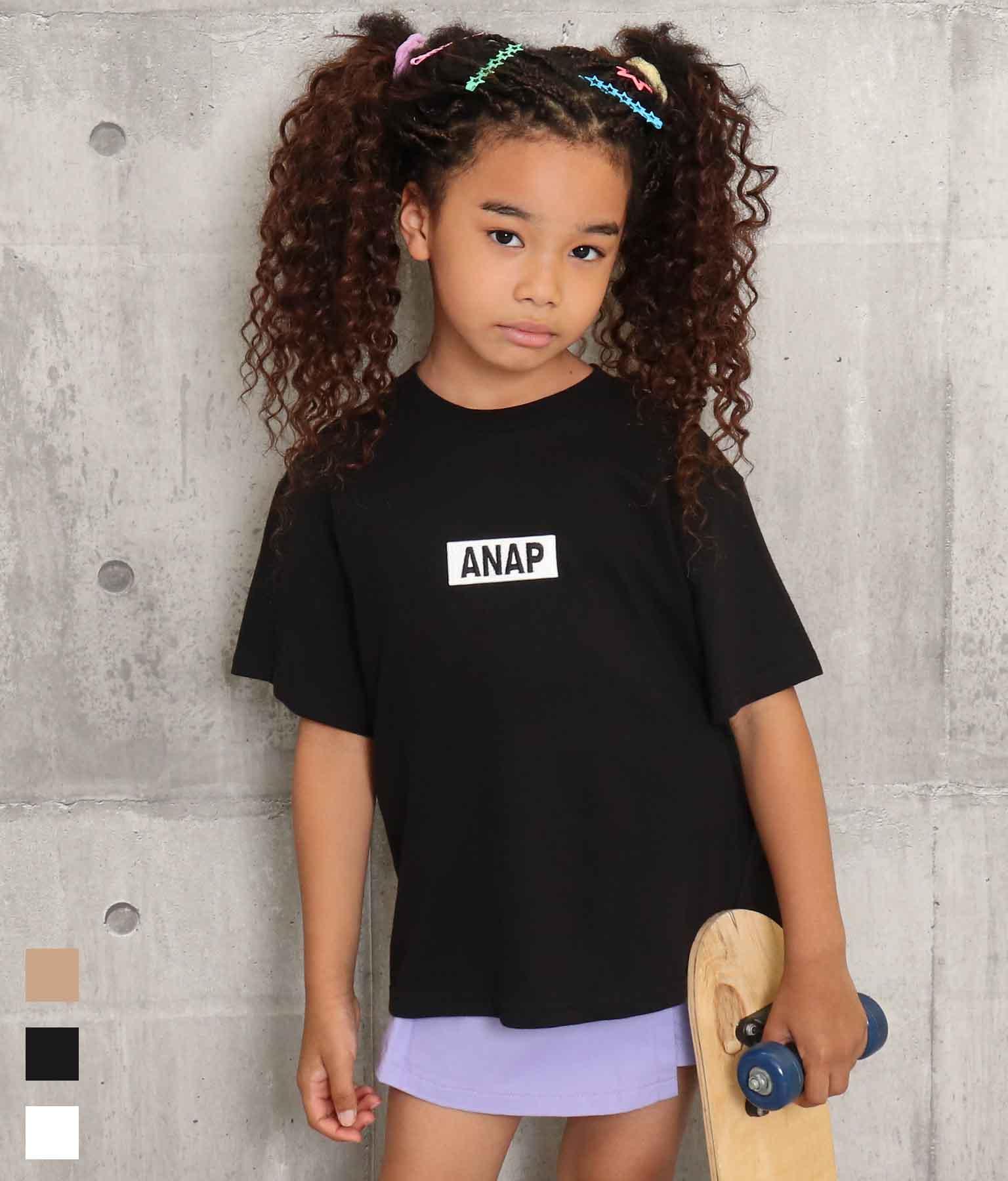 ANAPロゴ刺繍ビッグTシャツ
