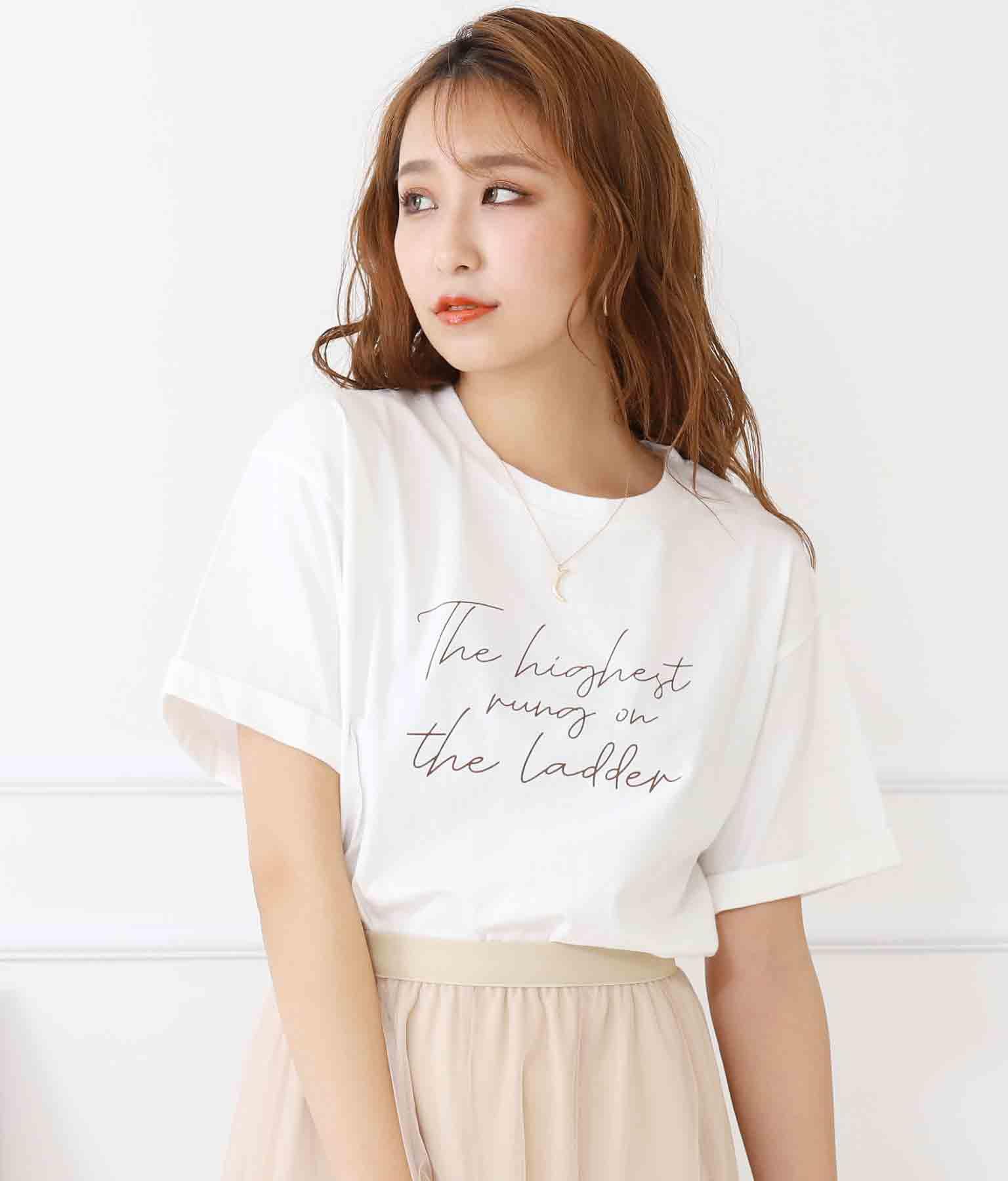 メッセージカラープリントTシャツ | CHILLE