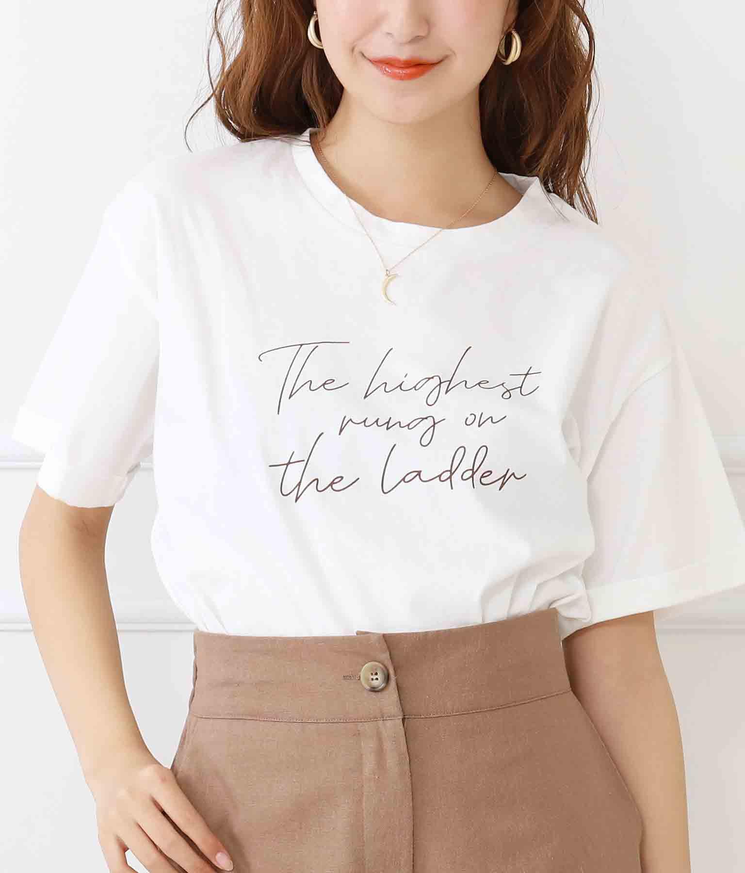 メッセージカラープリントTシャツ
