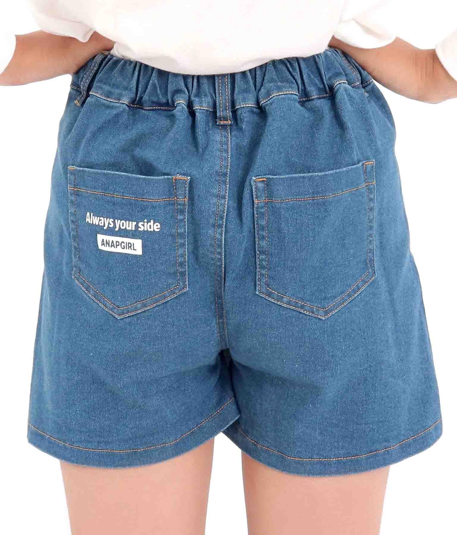 クラッシュデニムスカパン(ボトムス・パンツ /クラッシュデニム  ・ショートパンツ・スカート) | ANAP GiRL