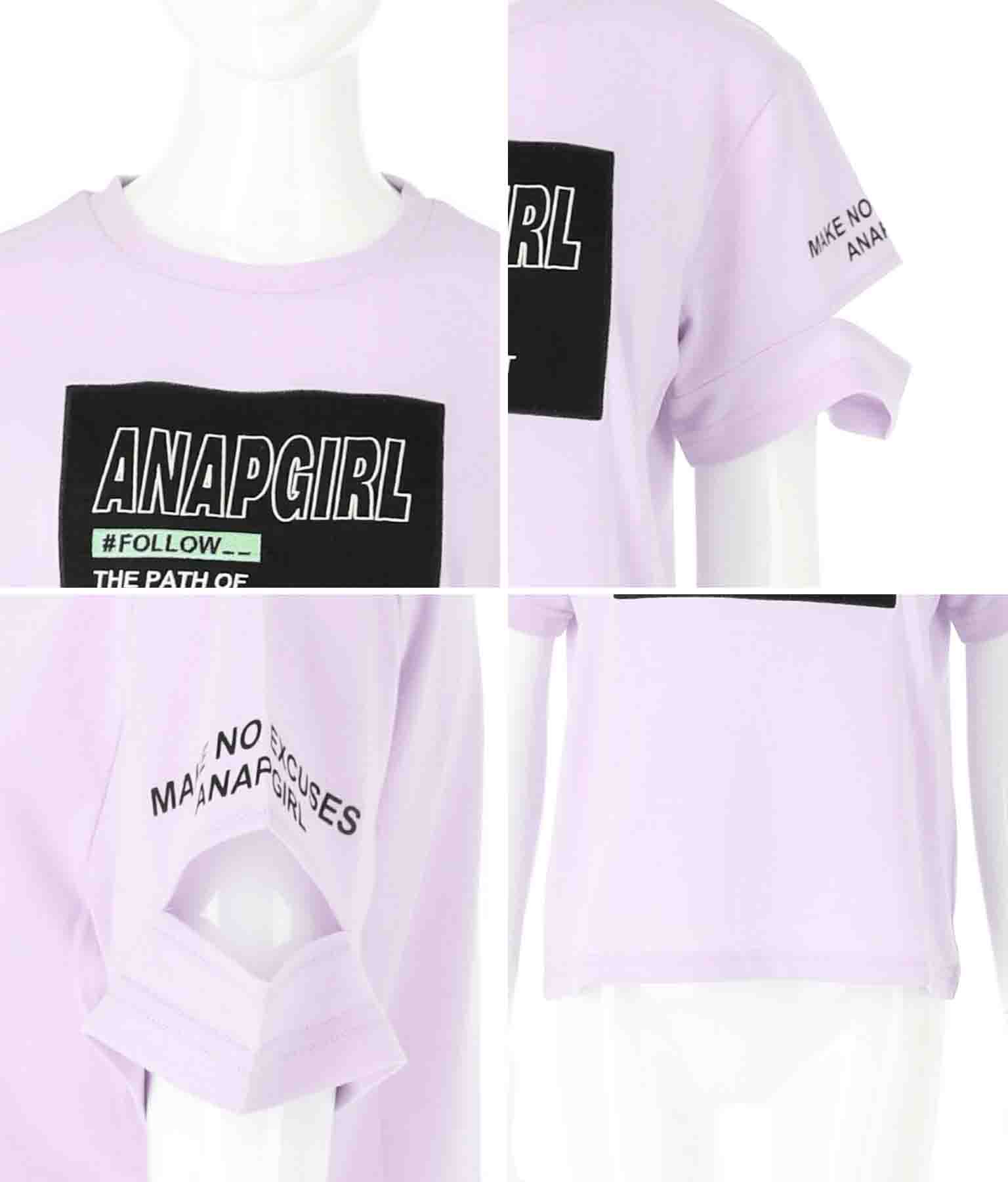 袖アキボックスロゴトップス(トップス/Tシャツ) | ANAP GiRL